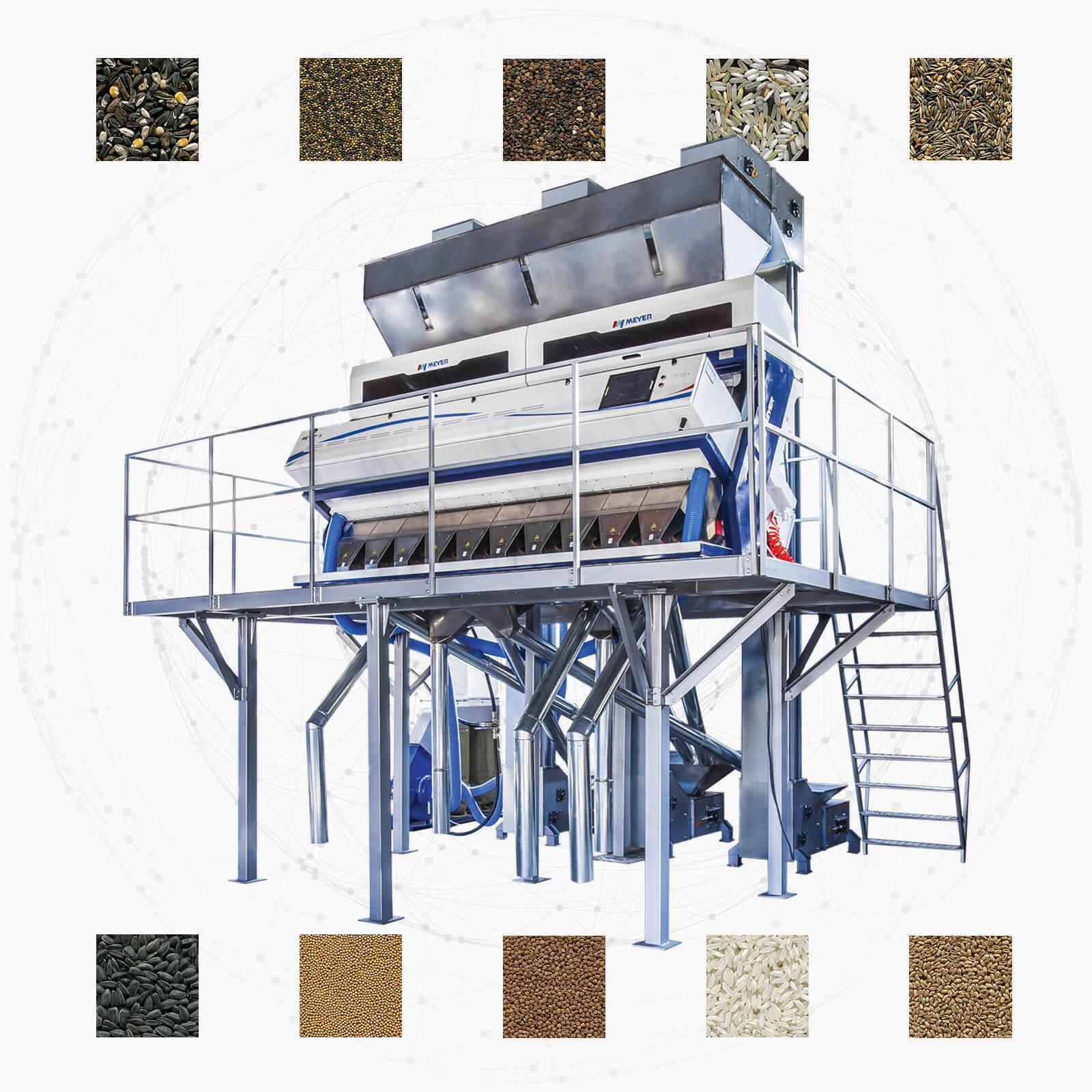 Фотосортировочное оборудование для очистки зерновых